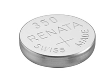 Renata 350 MP 105mAh 1.55V Silver Oxide Coin Cell Battery - 1 Piece Tear Strip, Sold Individually