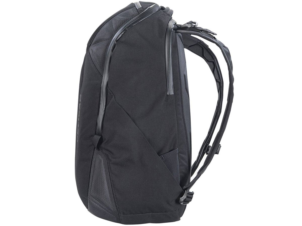 Side View of Black Backpack