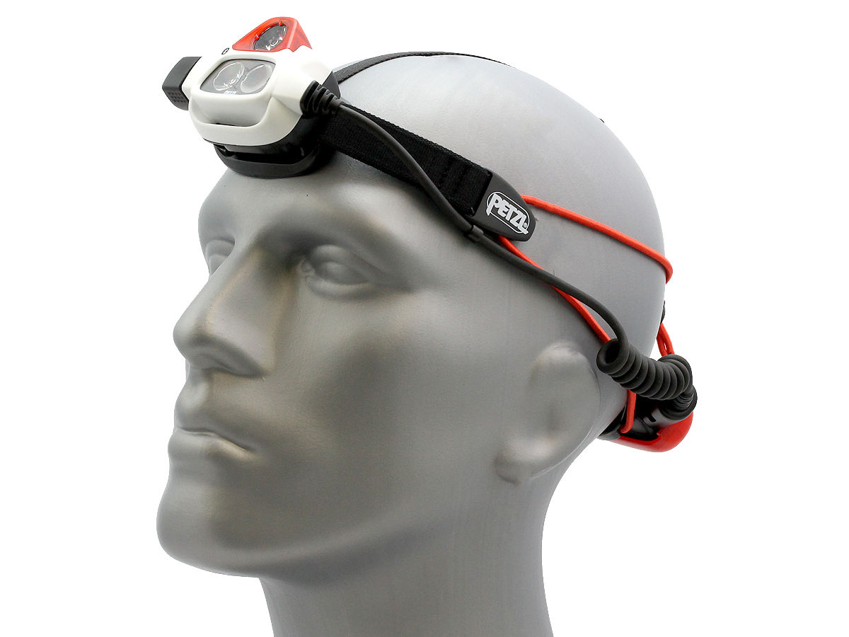 Angle Shot of the Petzl NAO + Rechargeable Multi-Beam LED Headlamp