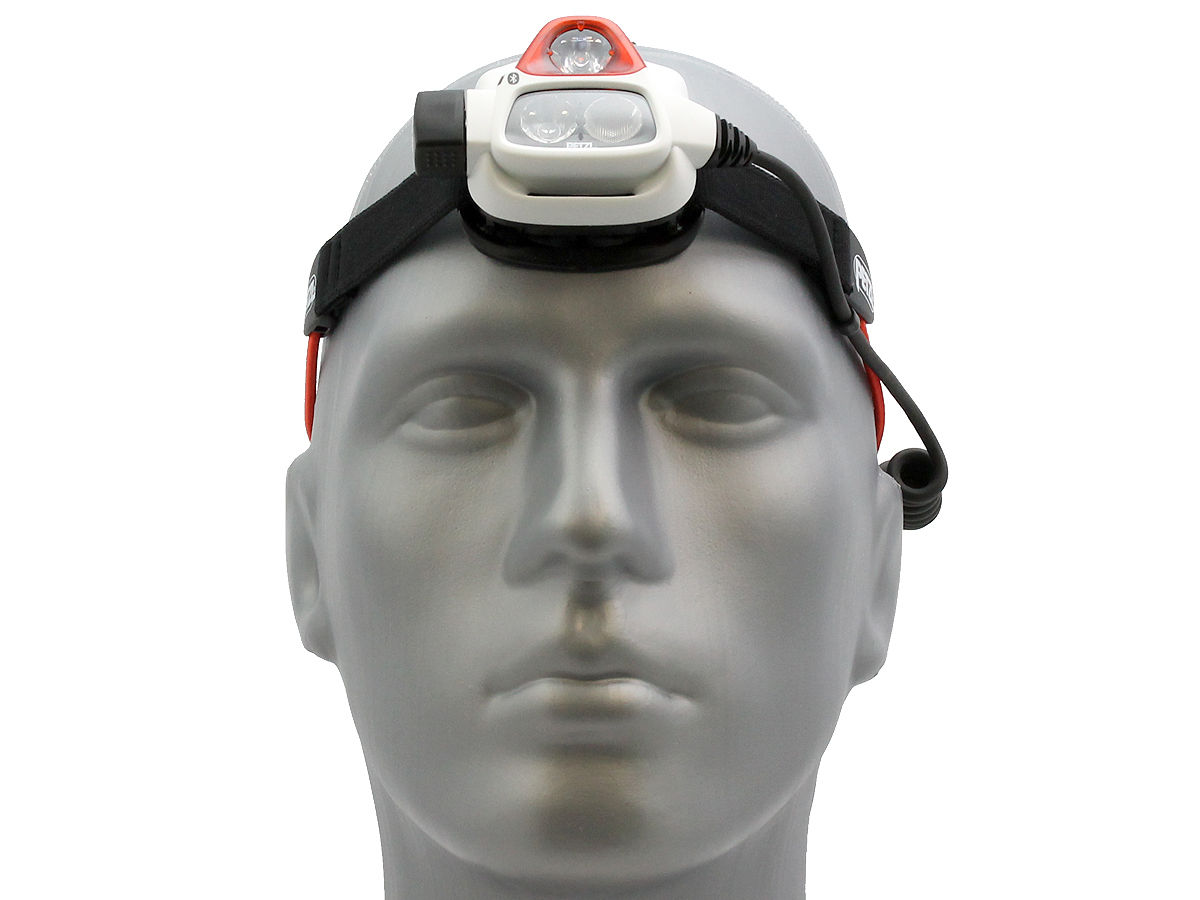 Front Shot of the Petzl NAO + Rechargeable Multi-Beam LED Headlamp