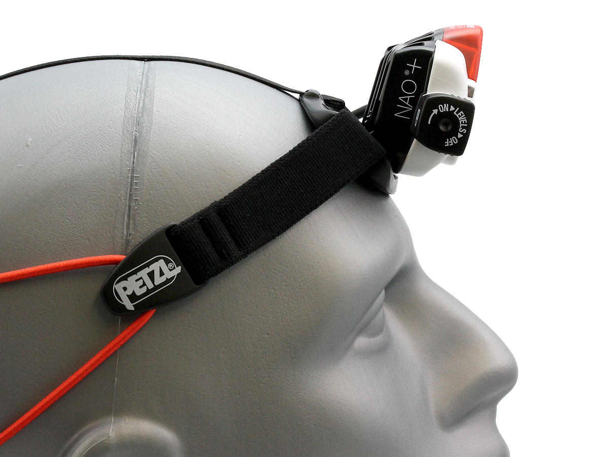 Side Shot of the Petzl NAO + Rechargeable Multi-Beam LED Headlamp