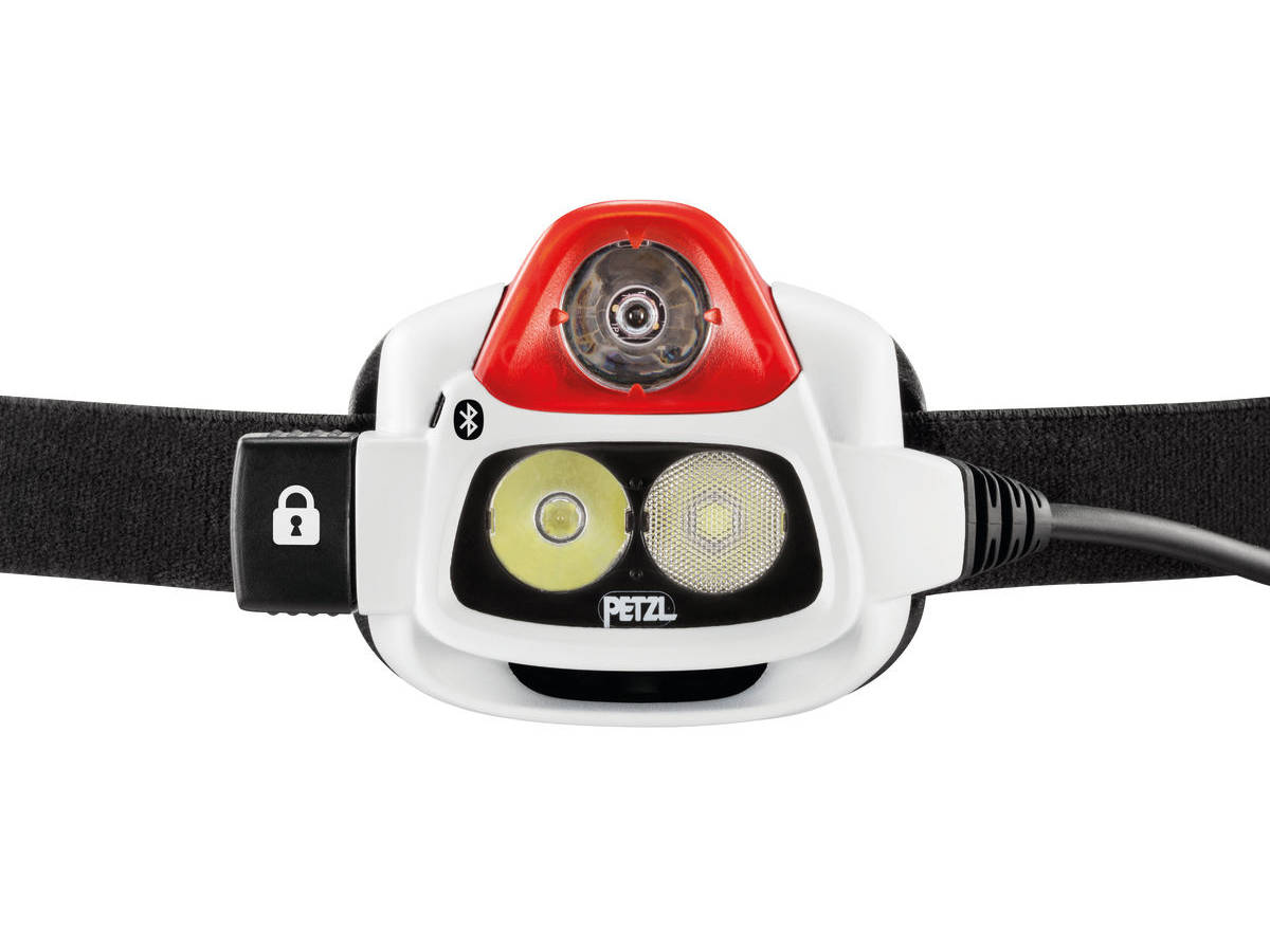 LED Shot of the Petzl NAO + Rechargeable Multi-Beam LED Headlamp