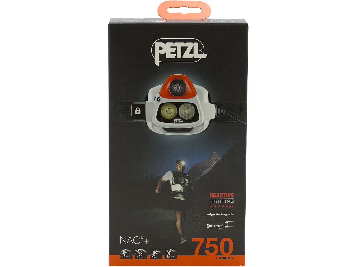 Package Shot of the Petzl NAO + Rechargeable Multi-Beam LED Headlamp