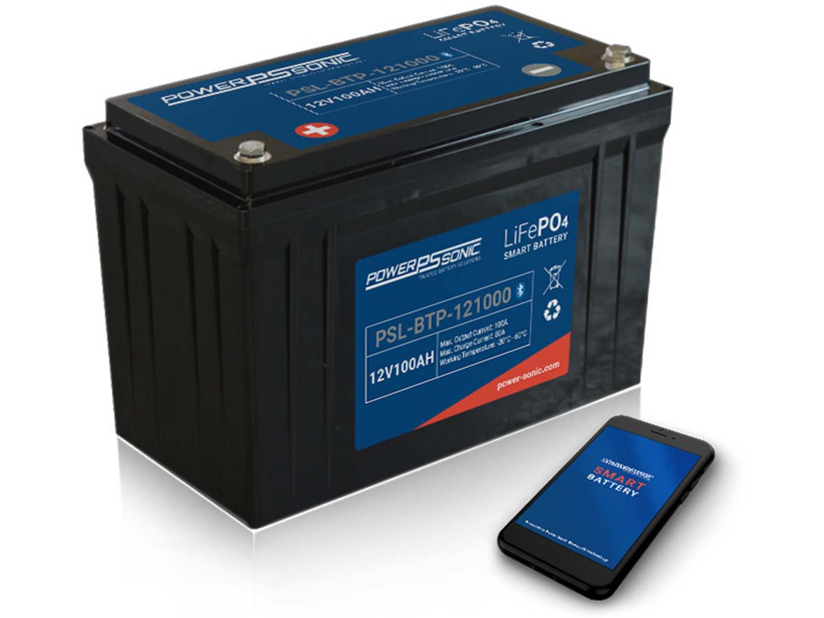 Power-Sonic PSL-BTP-12100 battery with phone