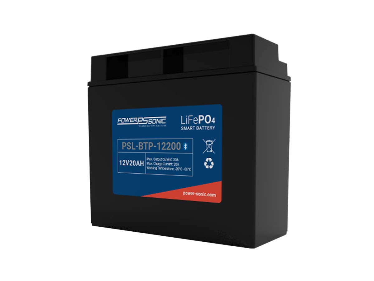 Power-Sonic PSL-BTP-12200 Blue Tooth Enabled 20AH 12.8V Rechargeable Lithium Iron Phosphate (LiFePO4) Battery - M6 Terminals