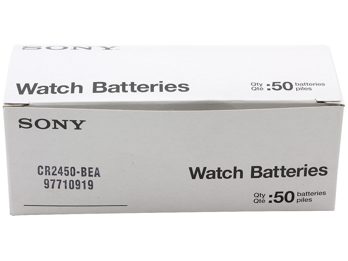 Box of 50 Sony CR2450 Batteries