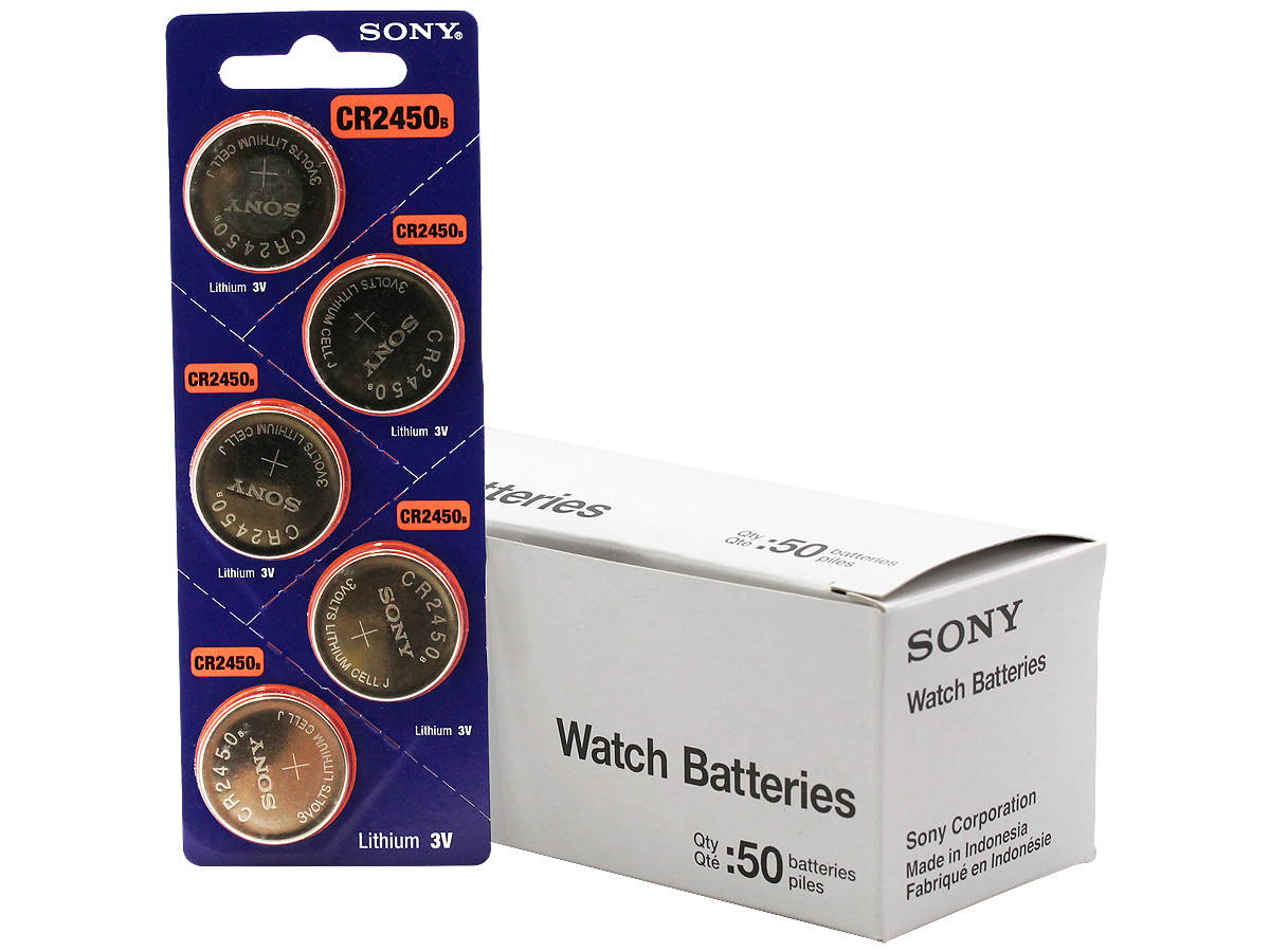 All Packaging for the Sony CR2450 Battery