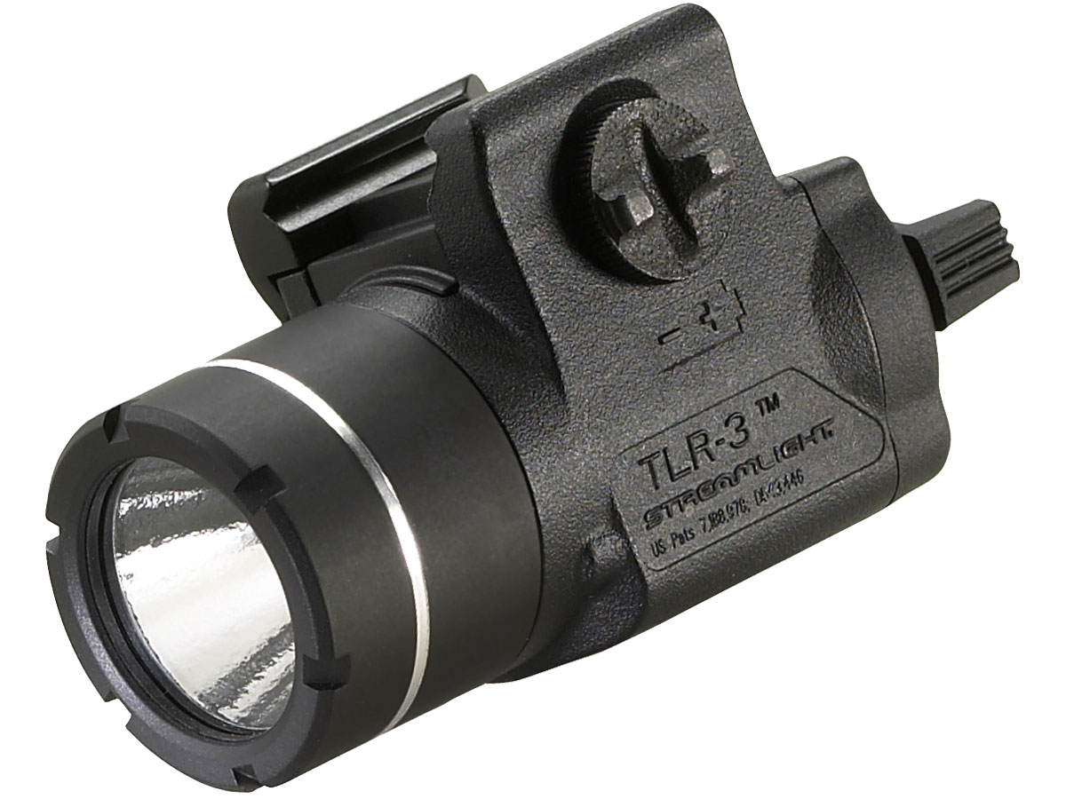 Angle Shot of the Streamlight TLR-3 with Key Kit Rail Mount
