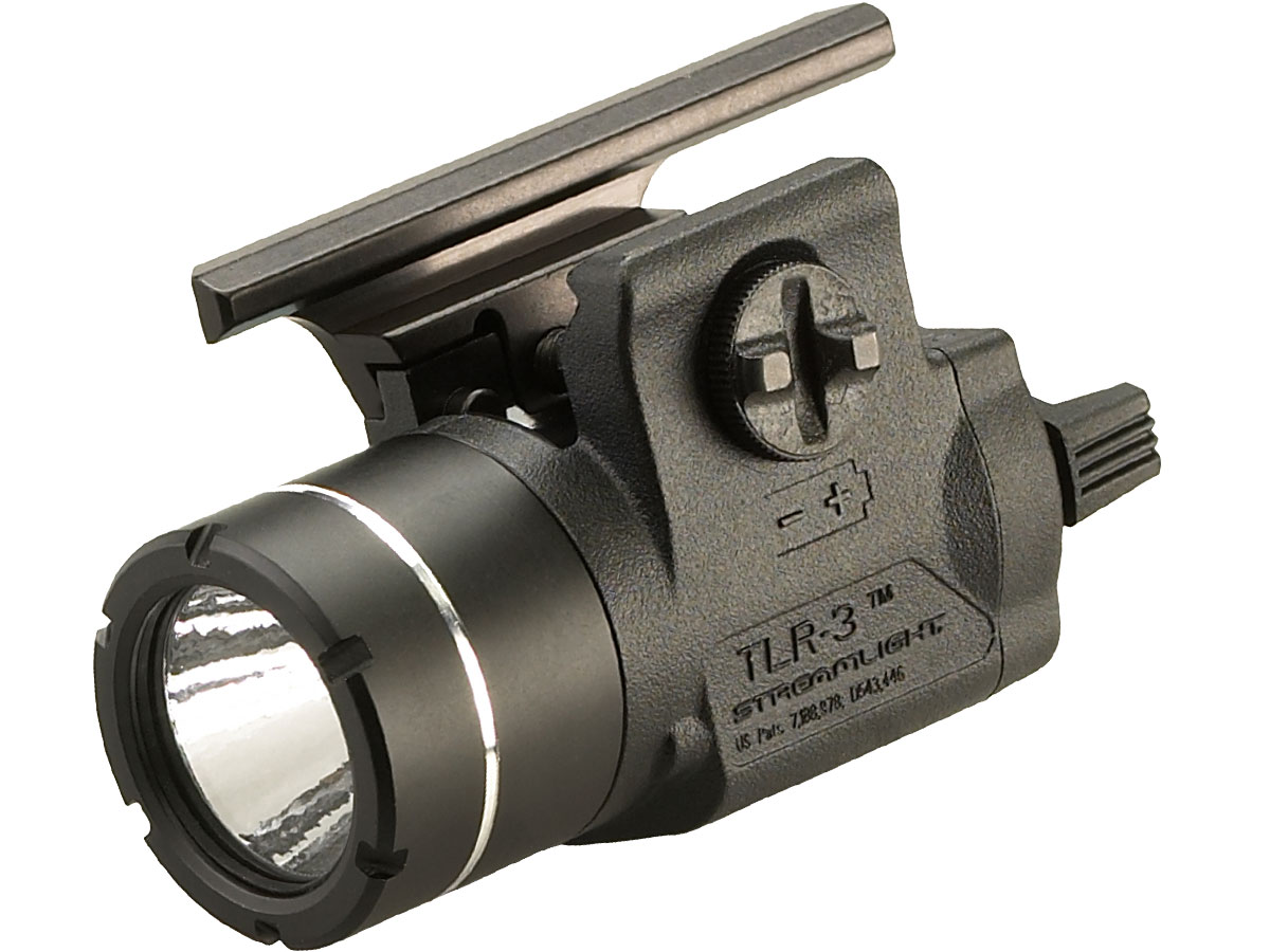 Angle Shot of the Streamlight TLR-3 with Full Size USP Rail Mount