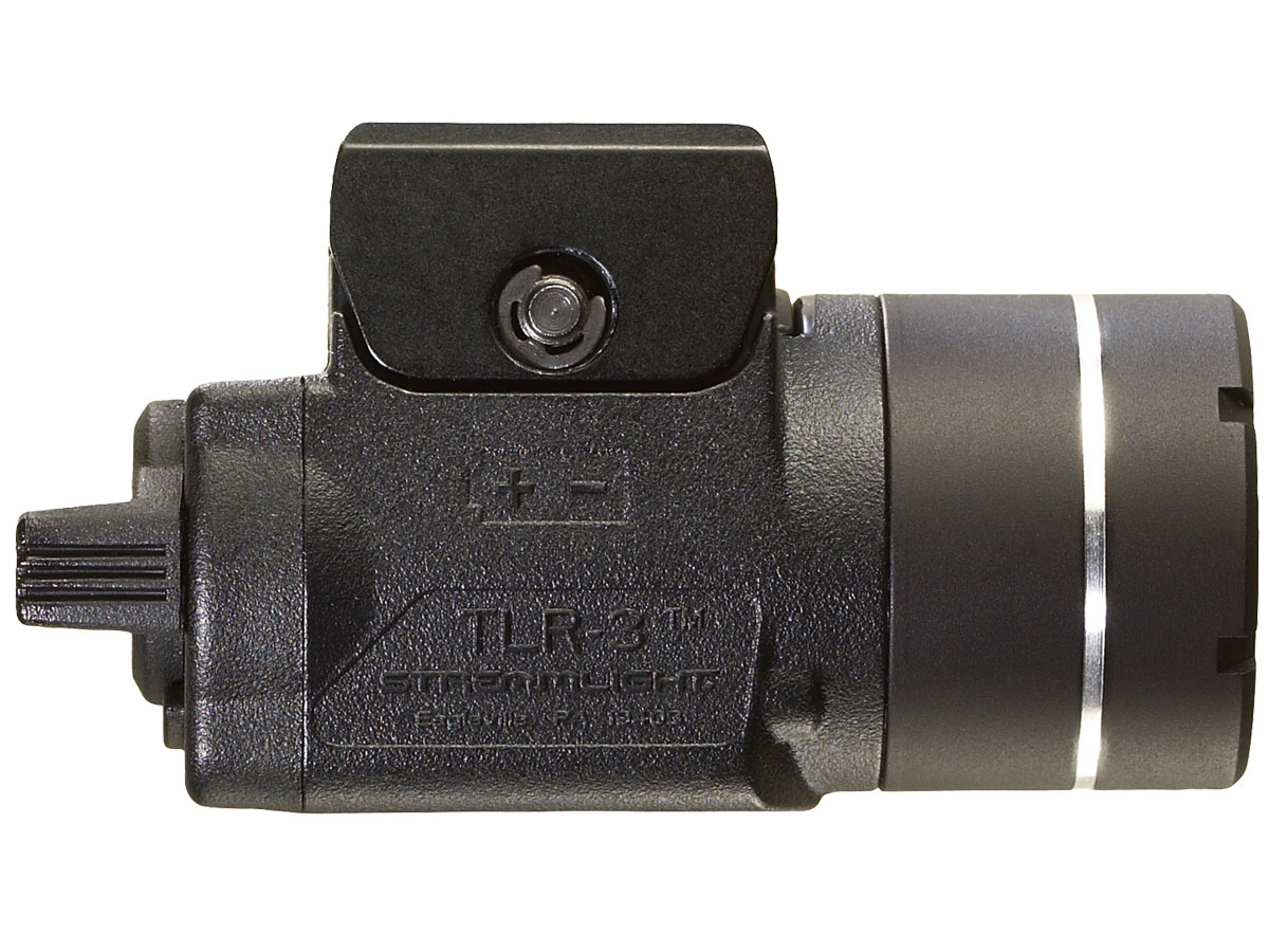 Side Shot of the Streamlight TLR-3 with Key Kit Rail Mount