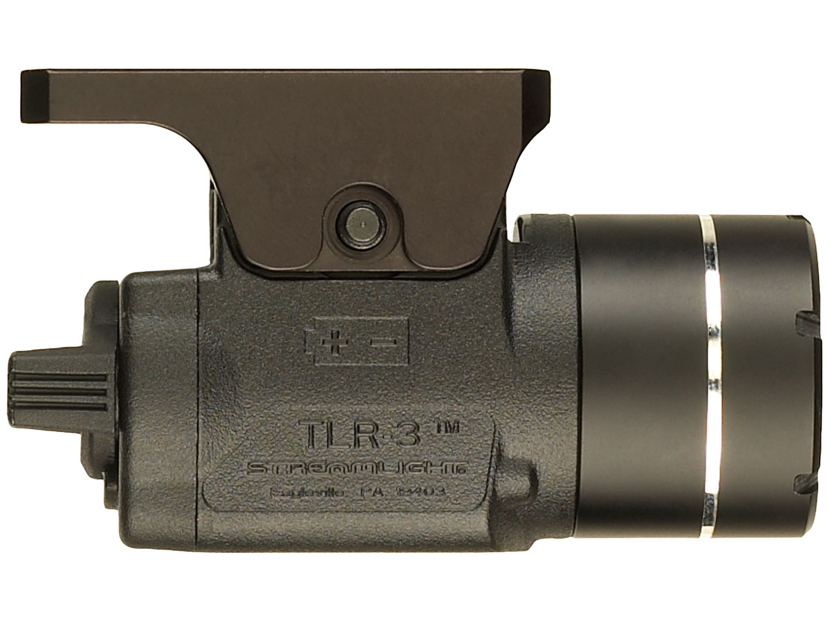 Side Shot of the Streamlight TLR-3 with Compact USP Rail Mount