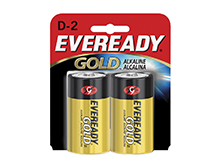 Energizer Eveready Gold A95-BP-2 D-cell 1.5V Alkaline Button Top Batteries - 2 Piece Retail Card