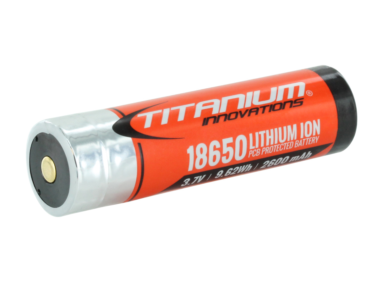 Titanium Innovations TITANIUM-18650-2600 Battery
