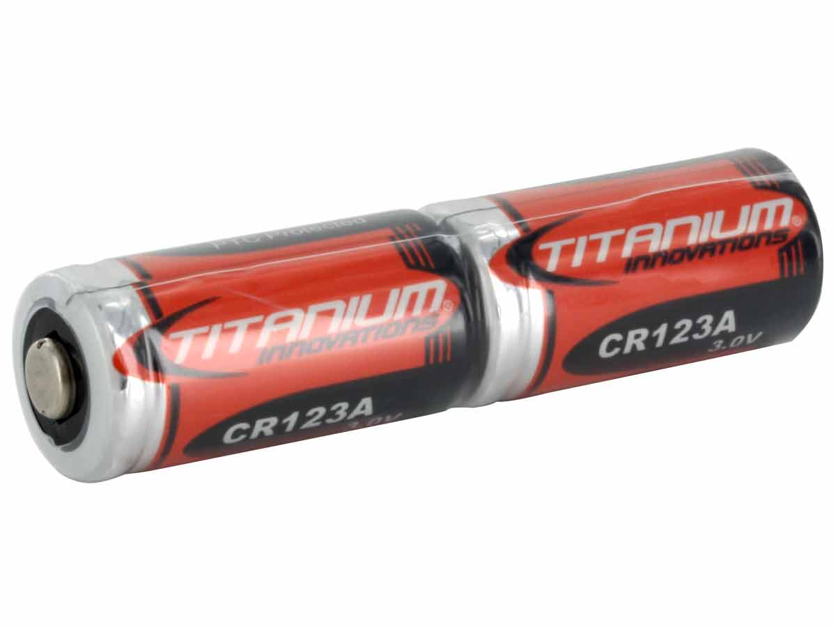 Titanium CR123A 3V Lithium Battery 2 Pack Shrink