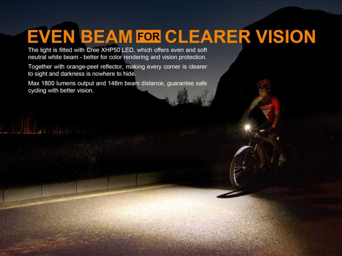 Fenix BC35R even beam, clear vision