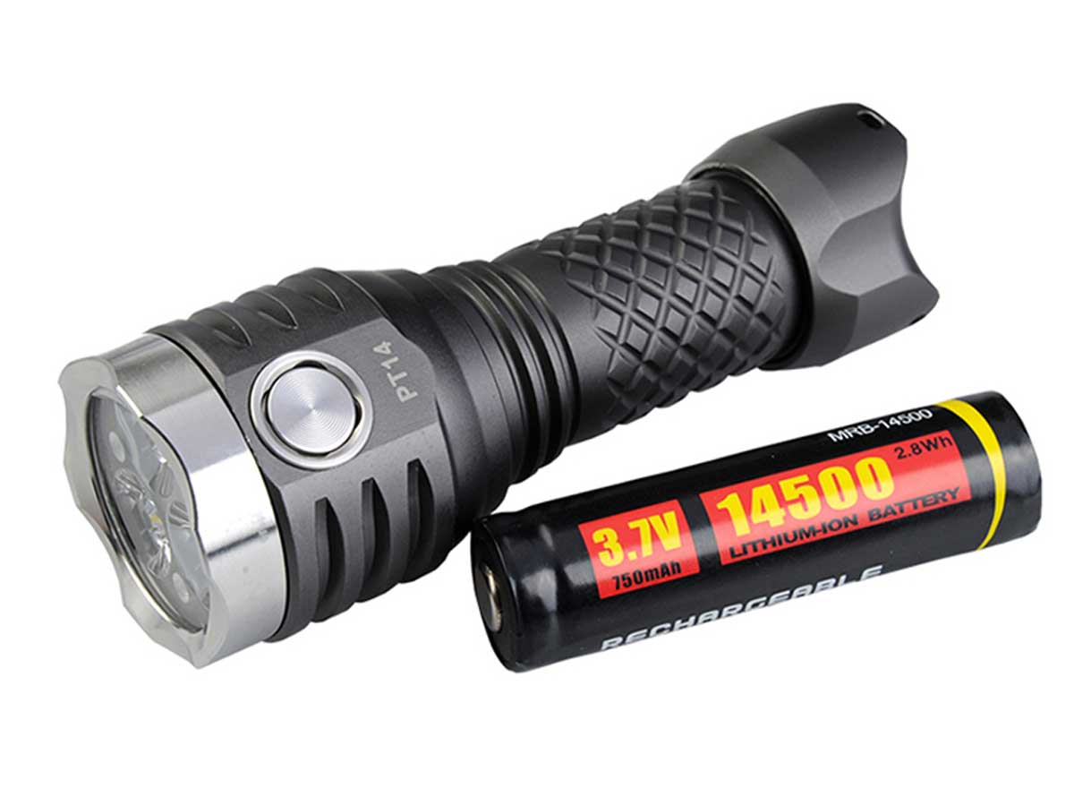 Flashlight with the included battery