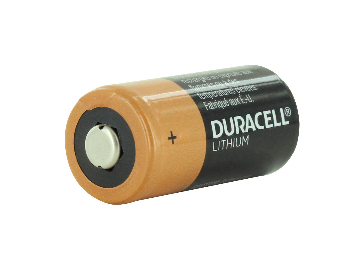 Duracell Ultra DL123A Lithium CR123A 3V Battery Vertical