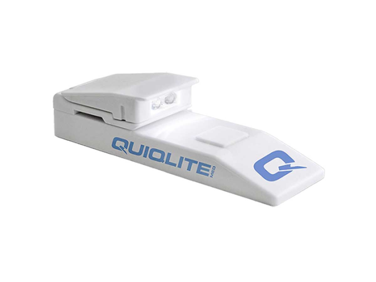 angled view of QuiqLite MED closed
