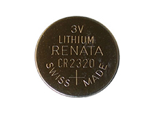 Renata CR2320-CU 150mAh 3V Lithium Primary (LiMNO2) Coin Cell Battery - 1 Piece Small Retail Card