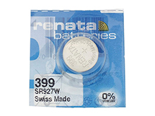 Renata 399 MP 55mAh 1.55V Silver Oxide Coin Cell Battery - 1 Piece Tear Strip, Sold Individually
