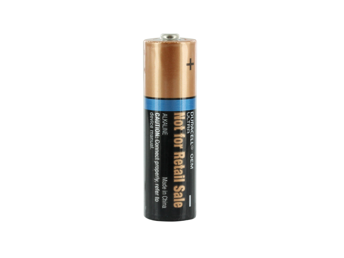 DURACELL ULTRA MX1500 AA SITTING VERTICALLY