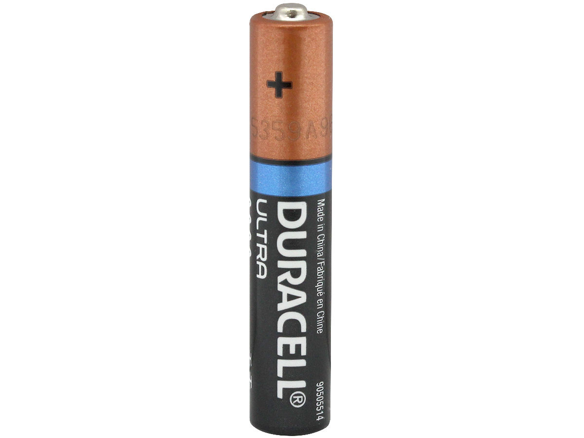 Standing Shot of the Duracell MX2500 AAAA Battery