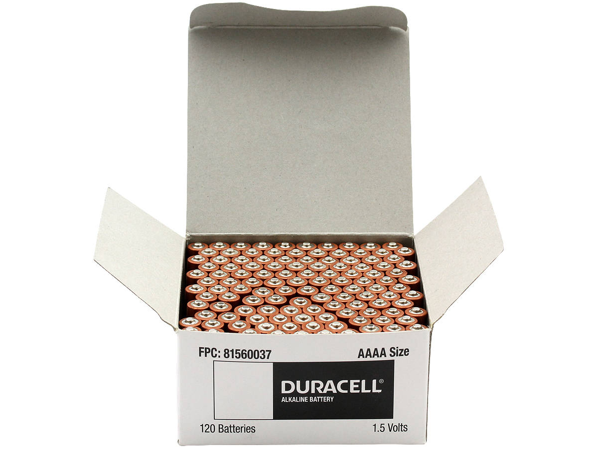 Open Box of 120 Batteries