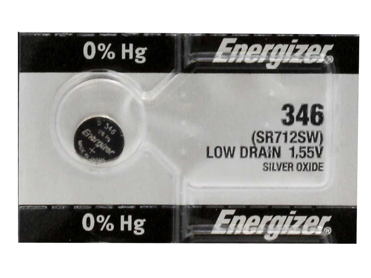 Energizer 346 coin cell in tear strip packaging