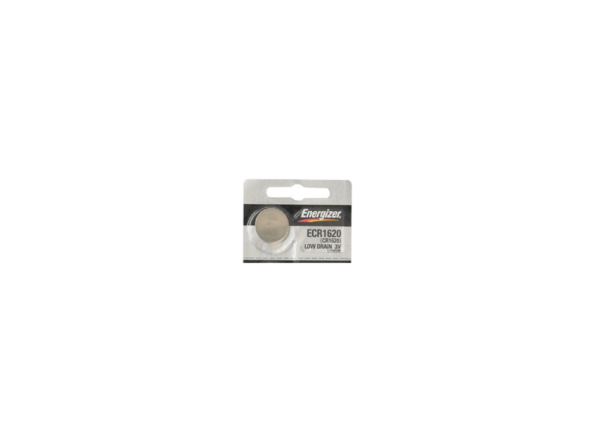 Energizer ECR1620 coin cell in tear strip packaging