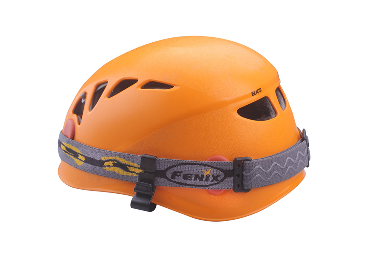 Fenix Helmet Attachment Hook Set Attached to Helmet