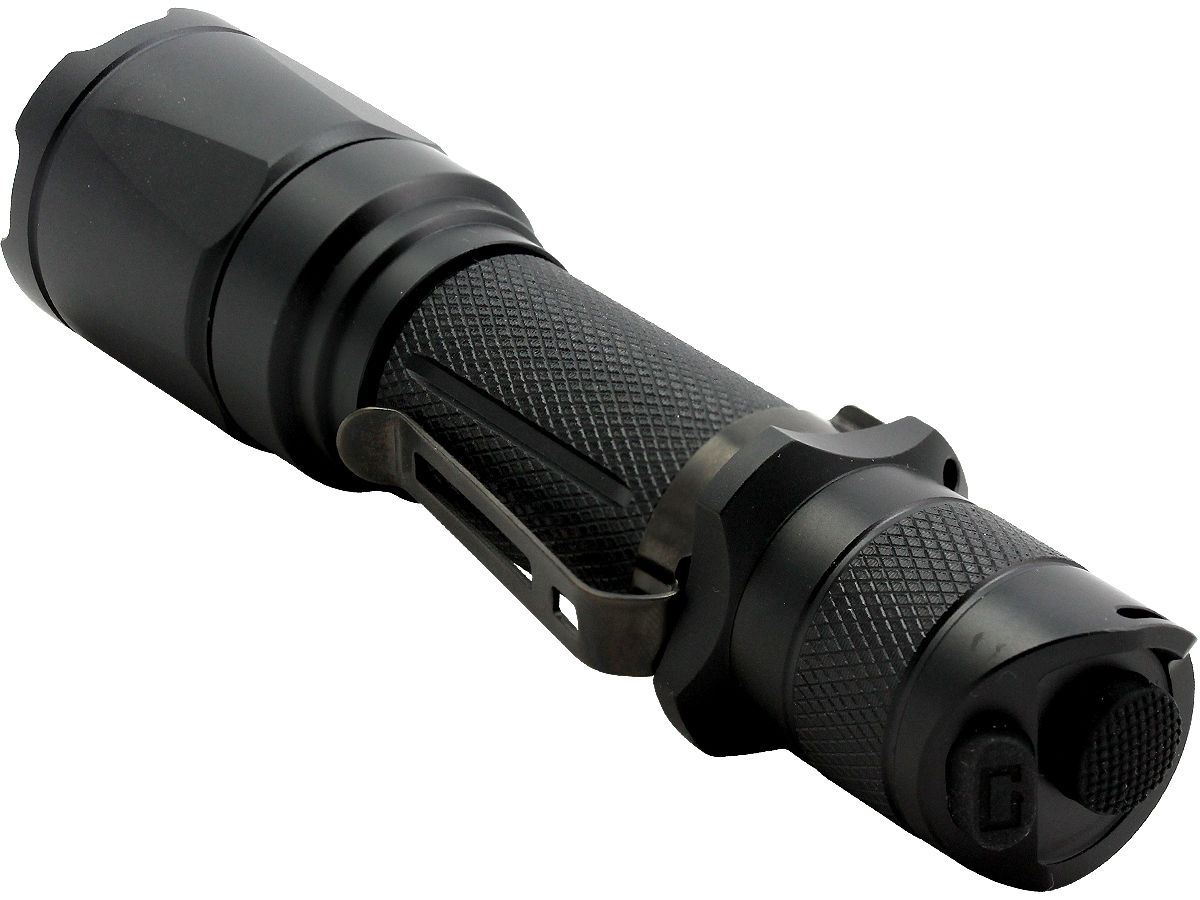 Tailcap Shot of the Fenix TK16 Tactical Flashlight