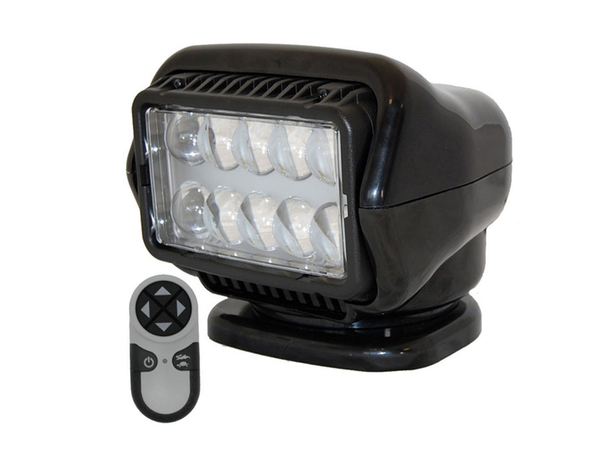 Golight Stryker Spotlight with magnetic base in black with remote
