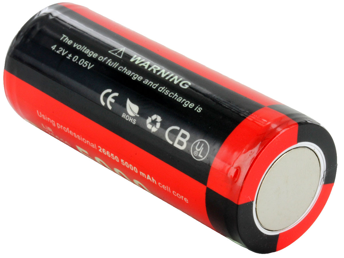 Klarus 26650 battery right side angle