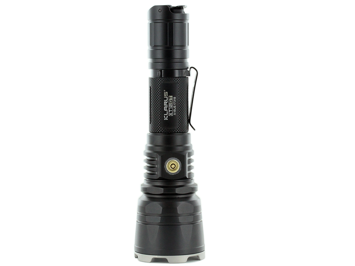 Standing Shot of the Klarus XT12GT Rechargeable LED Flashlight