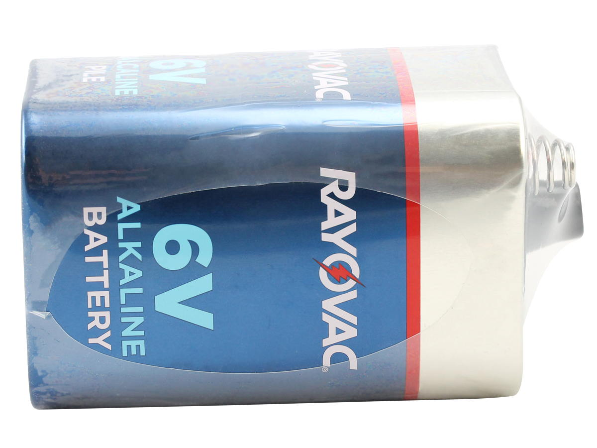 Side of the Rayovac 808 F Cell 6V Alkaline Lantern Battery