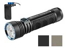 BUNDLE - Olight Seeker 2 Pro Rechargeable LED Flashlight - 3 x CREE XP-L - 3200 Lumens - Includes 1 x 5000mAh 21700 and a 2nd L Dock Kit