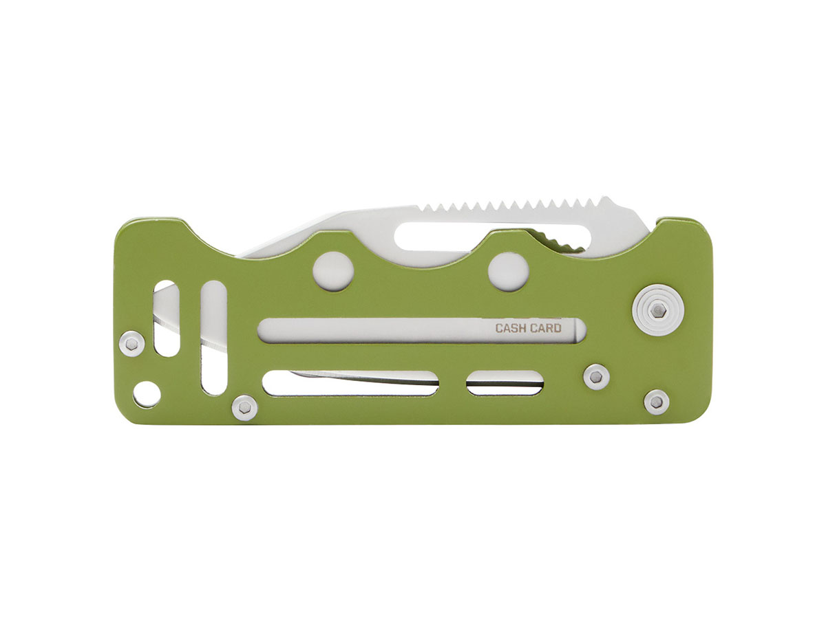 sog cash card front profile in moss