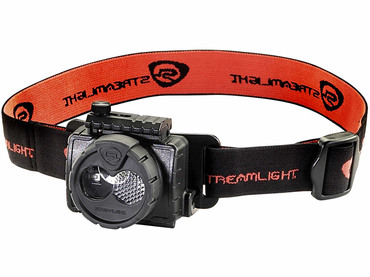 Black work headlamp with the strap