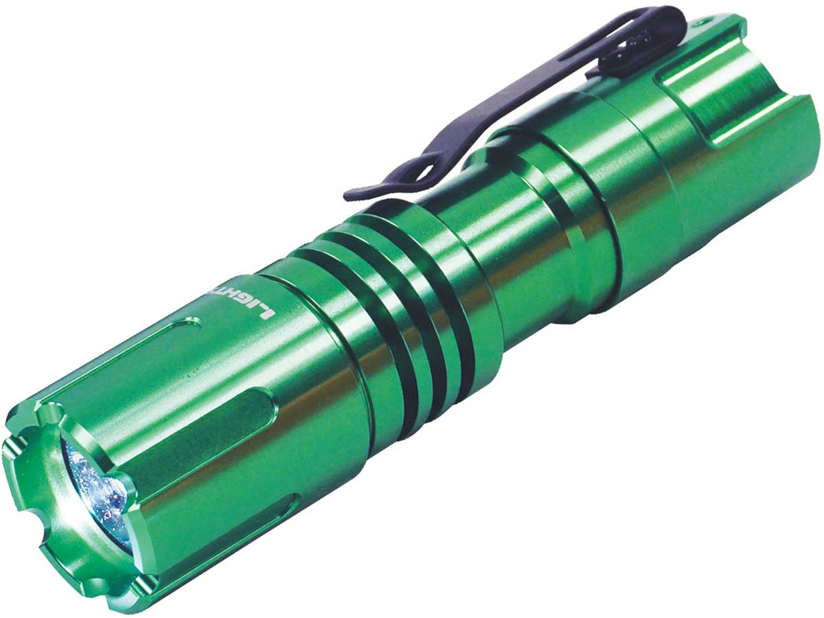 TerraLux TFL-1C1AA flashlight left side angle in green