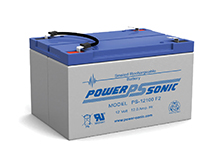 Power-Sonic AGM General Purpose PS-12100 12Ah 12V Rechargeable Sealed Lead Acid (SLA) Battery - F2 Terminal