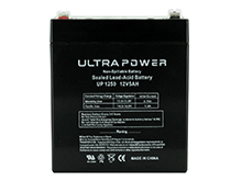 UltraPower UP1250F1 5Ah 12V Rechargeable Sealed Lead Acid (SLA) Battery - F1 Terminal