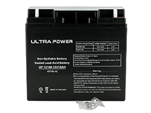 UltraPower UP12180NB 18Ah 12V Rechargeable Sealed Lead Acid (SLA) Battery - NB Terminal