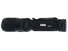 Powertac M6 Rechargeable LED Flashlight - 1300 Lumens - CREE XM-L2 U3 - Uses 1 x 18650 (included) or 2 x CR123A
