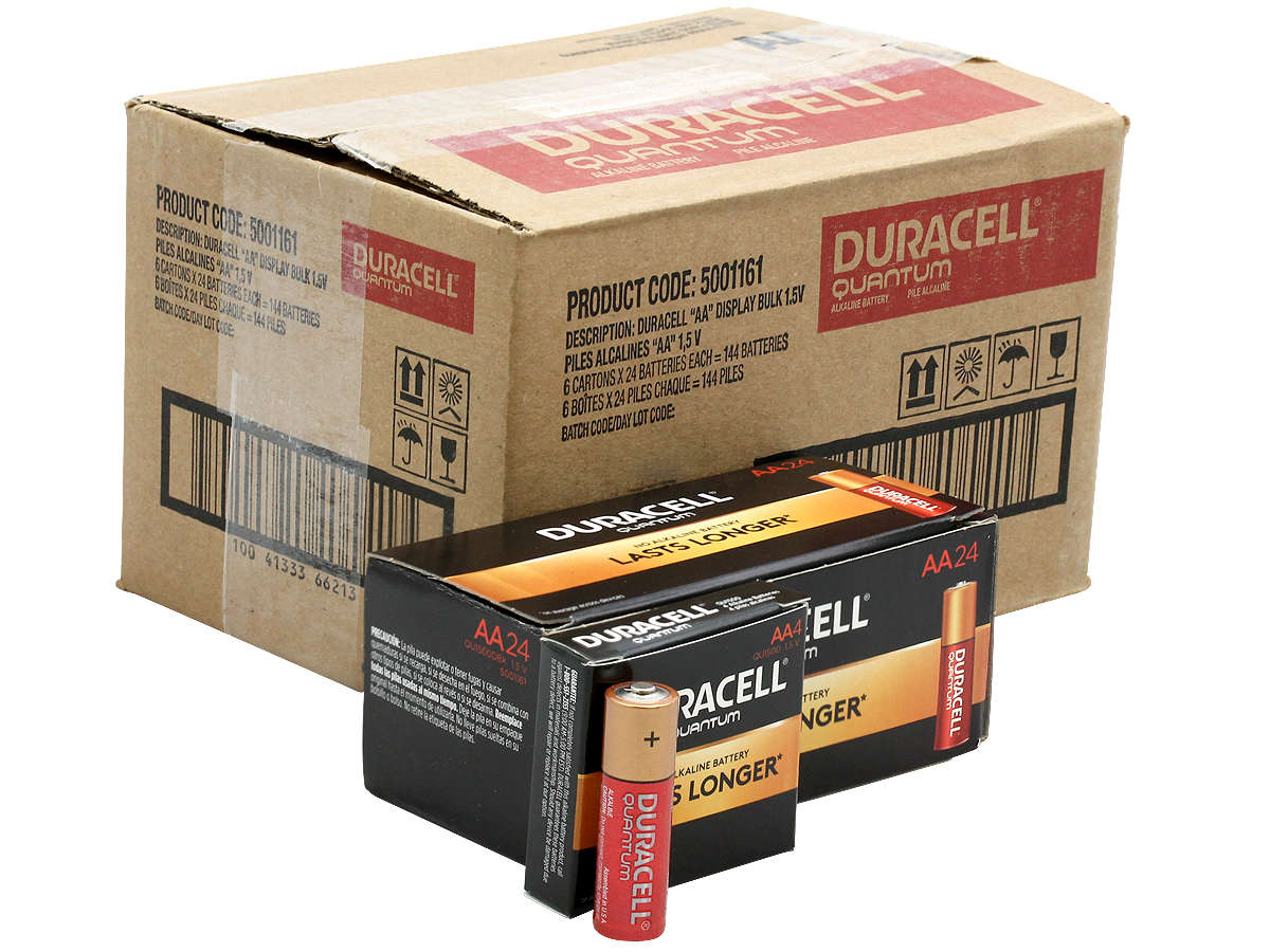 All Packaging for the Duracell Quantum QU1500 AA Battery