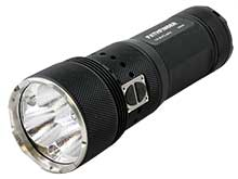 Powertac Pathfinder Multi-Color Search Light - CREE XHP70 LED - 11000 Lumens - White, Red, Green and Blue LED - Includes Li-Ion Battery Pack