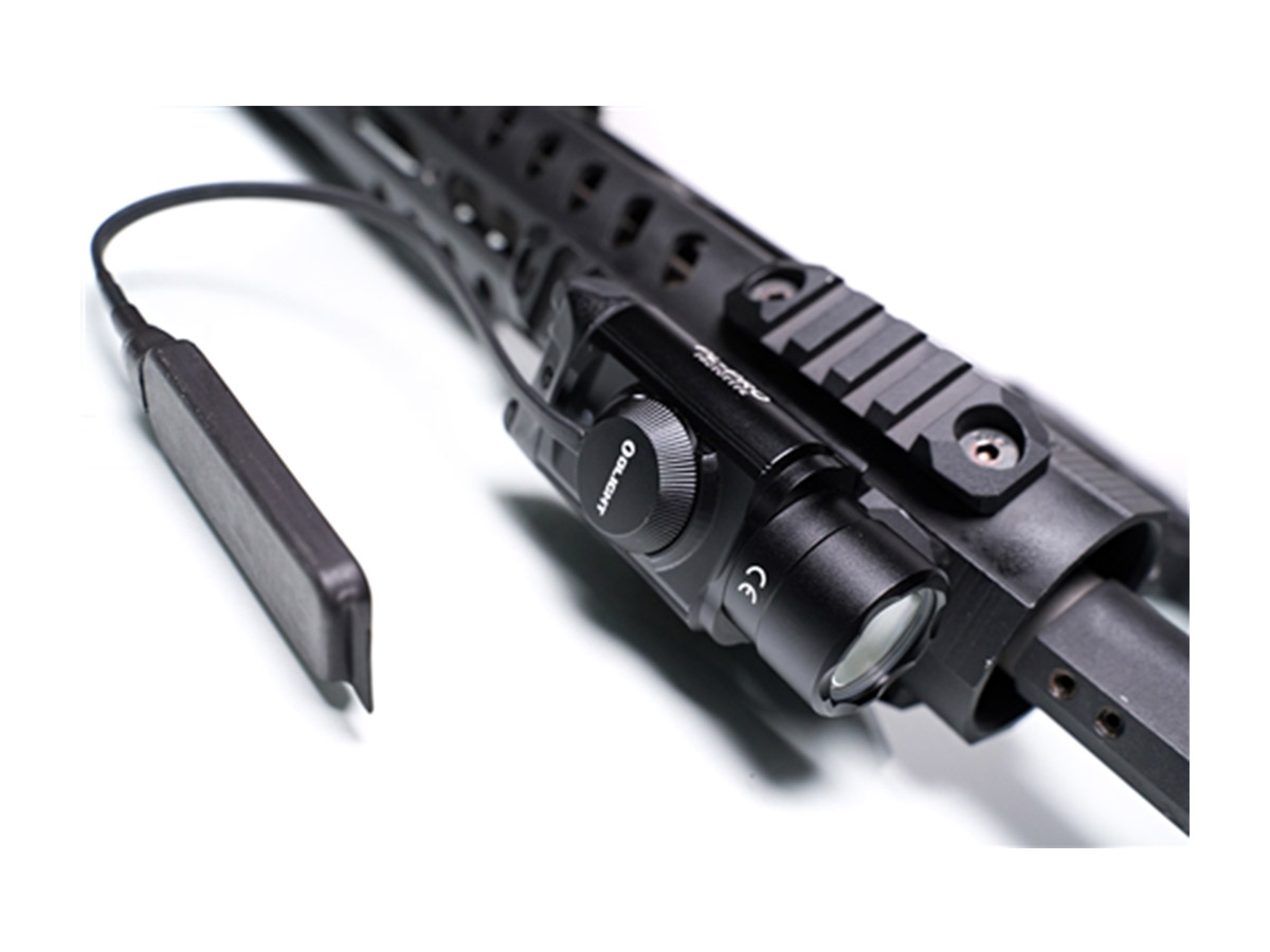 OLIGHT RPL 7 MOUNTED ON A WEAPON WITH LIGHT