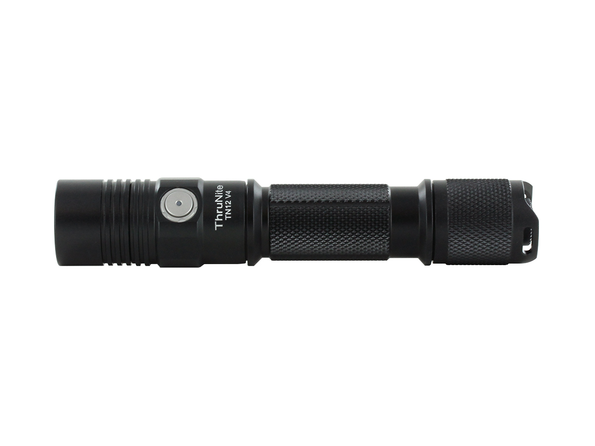 Thrunite TN12 flashlight close up of knurling