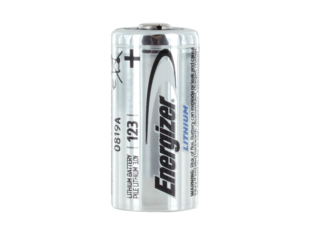 Side View of Energizer CR123As