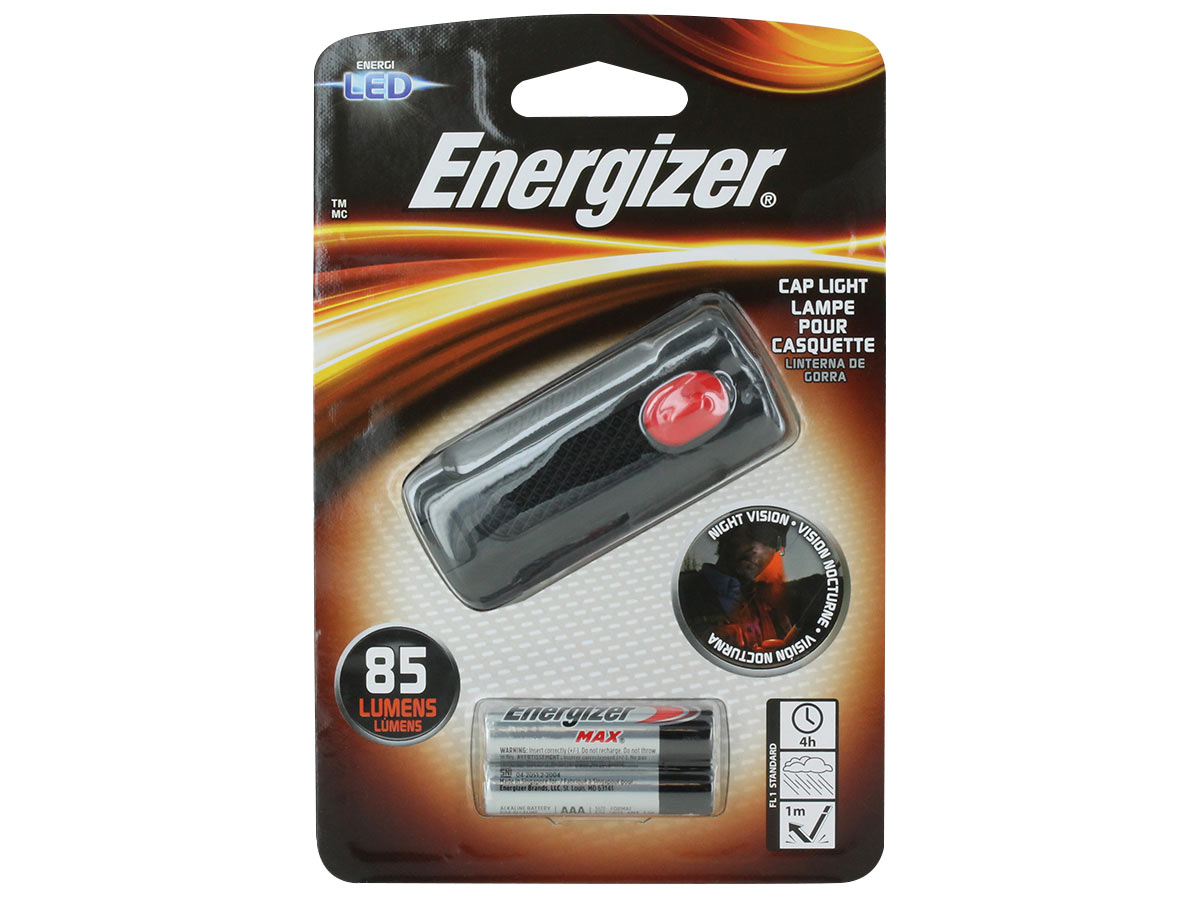 Energizer LED Cap Light left side angle
