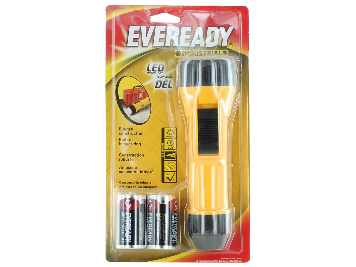 Energizer Eveready Industrial Flashlight in packaging